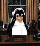 Tux at work